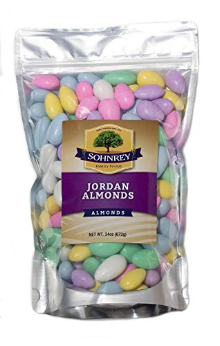 Jordan Almonds Wedding Holiday Party Favor Candies in Colorful Assorted Pastel Mix (24 oz) by Sohnrey Family Foods ... ()