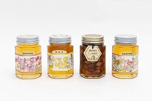 【国産純粋ハチミツ・養蜂園直送】れんげ蜂蜜 百花蜂蜜 柚子蜂蜜漬 各180g ナッツ蜂蜜漬 160g