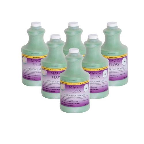 4 lbs Magic Floss Sugar in Easy Pour Bottle (Set of 6) Flavor: Lime