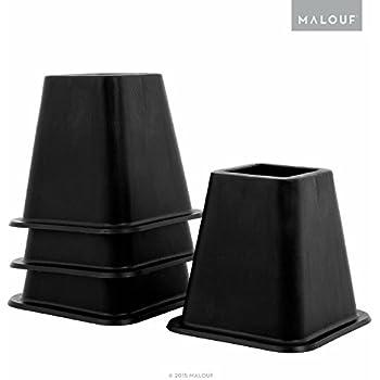 Amazon Com Height Adjustable Bed Risers Set Of 6 Black