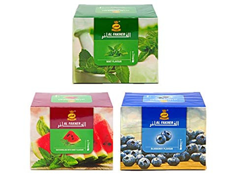 3 Pack Al Fakher Shisha Molasses - Non Tobacco Flavour Hookah Water Pipe with Roll Brand - Hookah Shisha Flavors
