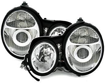 V-maxzone Vp574/Lot de phares en verre clair Chrome RHT