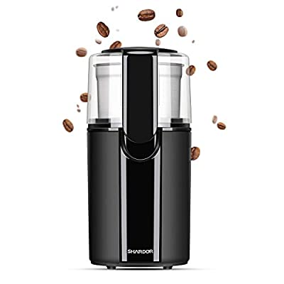 SHARDOR Electric Coffee Bean Grinder, Removeable Bowl with Stainless Steel Blade, Black.