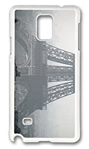 Adorable Eiffel Tower Paris Hard Case Protective Shell Cell Phone Samsung Galaxy Note2 N7100/N7102 - PC White