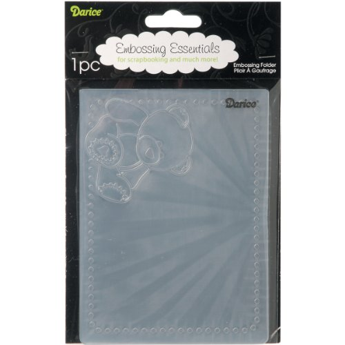 Darice Embossing Folders, 4.25 by 5.75-Inch, Bear Corner Design