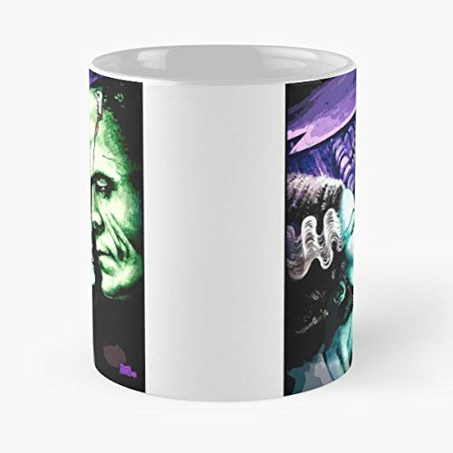 Bride Of Frankenstein Classic Horror - 11 Oz Coffee Mugs Unique Ceramic Novelty Cup, The Best Gift For Halloween. -