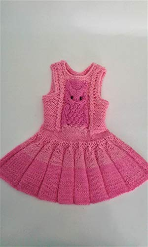 18-inch Doll Dress. Pink Doll Dress. Dress for Blythe. A Gift for the Daughter. Knitted Fashionable Doll Clothes. Accessories for Dolls.