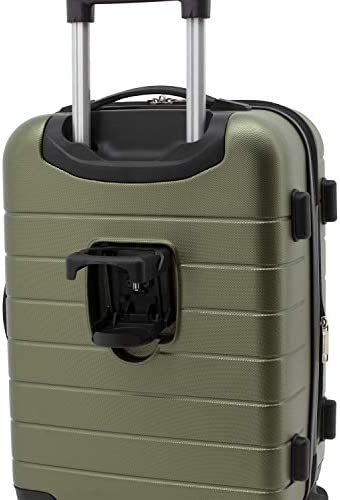 "Wrangler 20"" Smart Spinner Carry-On Luggage With Usb Charging Port, 20 Inch Carry-On, Olive Green"