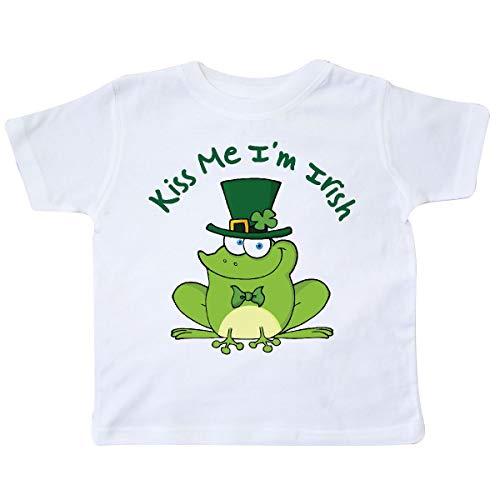 inktastic - Kiss Me I'm Irish Frog St Patricks Toddler T-Shirt 4T White 10fa1