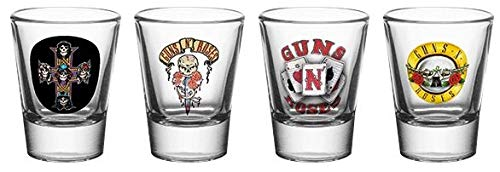 Officially Licensed Guns N' Roses Shot Glasses 4 Pack