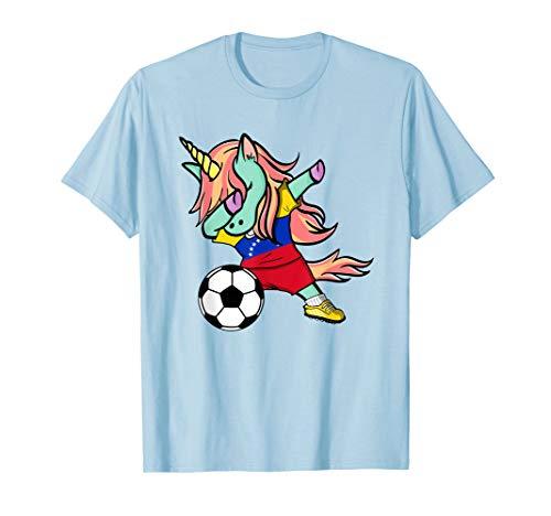 Dabbing Unicorn Soccer Venezuela Jersey Shirt 2019 Football