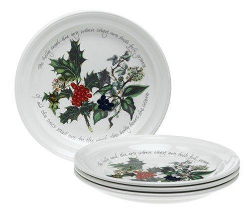 Portmeirion Holly and Ivy Salad Plates, Set of -