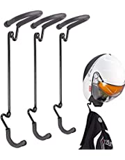 US2U Wall Hooks Coat and Hat Rack – Heavy Duty Wall Mounted Entryway Organizer Hanger for Coats, Hats, Caps & Helmet Mount - Sturdy & Decorative Solution to Organize, Storage Or Display - 3 Pack