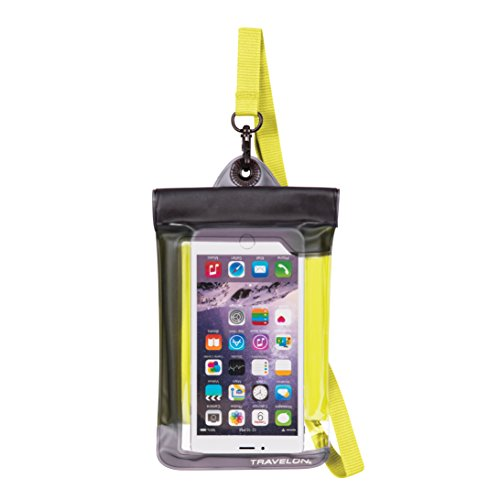 Travelon Floating Waterproof Smart Phone/Digital Camera Pouch, Yellow (Waterproof Pool Phone Cover)