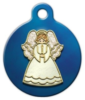 Dog Tag Art Angel Ornament Pet ID Tag for Dogs and Cats Large ()