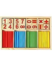 Números de madeira para crianças aprendendo vara matemática Aprendizagem precoce Contando brinquedos educativos Crianças Crianças presentes