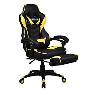 Amazon Com Gaming Chair For Adults With Footrest High