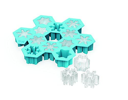 TrueZoo Snowflake Silicone Mold and Ice Cube Tray]()