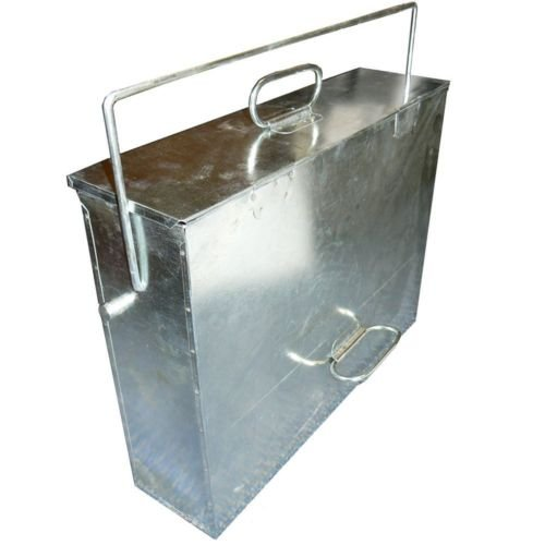 Inglenook Galvanised Metal Hot Ash Tidy Box Carrier Bucket Fireplace #Fire168 New