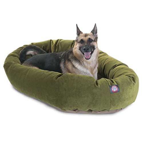 52 inch Fern Villa Collection Micro Velvet Bagel Dog Bed By Majestic Pet Products