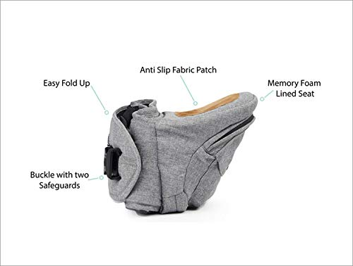 TushBaby The Original Hip Seat Baby Carrier, Grey by TushBaby (Image #8)