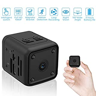 Mini Camera 1080P Nanny Camera Portable Small HD Camera with Automatic Night Vision and Motion Detection,Micro Camera for Home and Office,Easy Operation with Intelligent Switch
