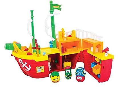 Amazoncom Veggietales Light N Sound Activity Pirate Ship Toys