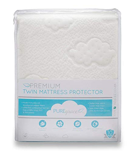 Protector Waterproof Luxurious Mattress - PUREgrace Twin Mattress Protector (39