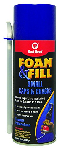 Red Devil 0913 Foam & Fill Small Gaps & Cracks Expanding Polyurethane Foam Sealant, 12-Ounce, Off Off White