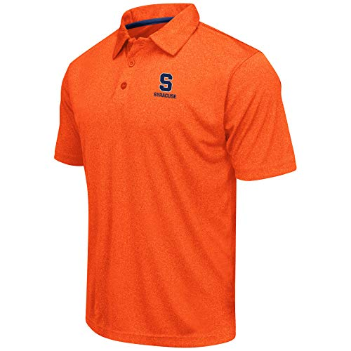 Colosseum Men's NCAA Heathered Trend-Setter Golf/Polo Shirt-Syracuse Orange-Heathered Orange-XL - Bowl Syracuse Games