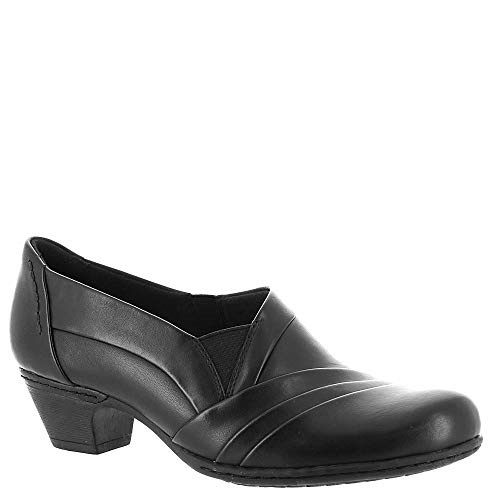 Rockport Cobb Hill Collection Women's Cobb Hill Abbott Slip-On Black Leather 9 B US B (M) -