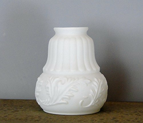 - The Kings Bay Victorian Satin Milk Glass Shade 2 1/4