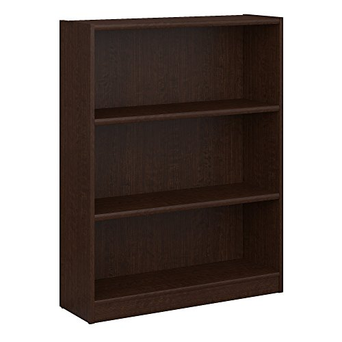 Bush Furniture Universal 3 Shelf Bookcase in Mocha Cherry