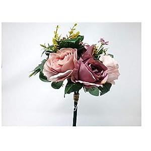 "12"" Dusty Pink Lavender Rose Hydrangea Bouquet Silk Wedding Bridal Bridesmaid Flowers S1013 1"