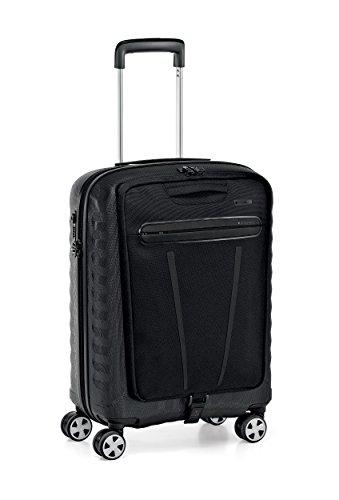 roncato-double-smart-luggage-22-international-carry-on-spinner-luggage-black-black