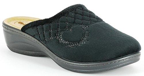 Inblu 33 donna nero invernali ciabatte LY da pantofole art HwIHr0q