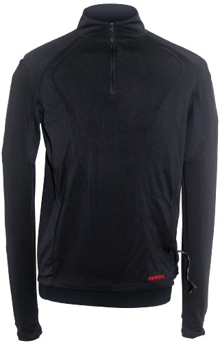 Mobile Warming Longmen Mens Black (W/battery) Textile Base Layer Shirt - X-Small