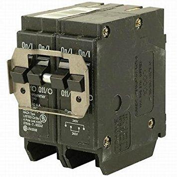 Eaton BR420 Plug-On Mount Type BR Circuit Breaker 4-Pole 20 Amp 120/240 Volt AC