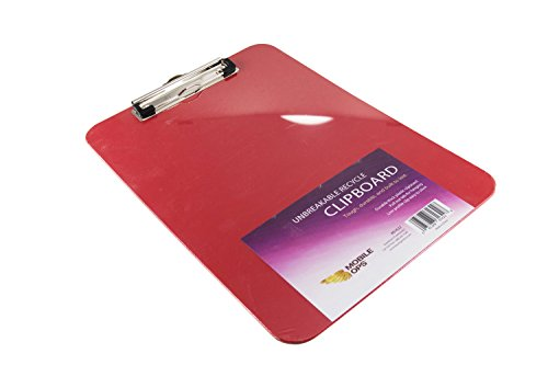 Mobile Ops Unbreakable Recycled Clipboard RED (61622) by Mobile Ops