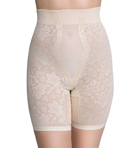 QT Intimates Lace Jaquard Long Leg Control Shaper w/ Powermesh #298 (XX-Large...