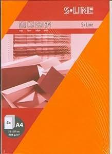 Artoz de papel AG–S line de tarjeta A4Fácil (210x 297mm 5unidades)–Naranja
