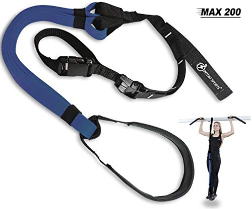 INTENT SPORTS Pull Up Assist Band MAX 200 - UP to 200 LB of Assistance! - Chin Up - Workout eBook! - High-Performance - Resistance Bands - Get Stronger - Crossfit or Workout Program (Patent Pending) (Best Pull Up Assist Bands)