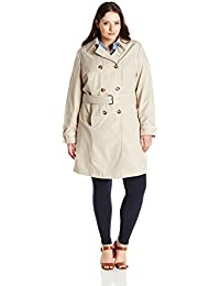 Women's Plus-Size Laurie Classic Double-Breasted Trench Coat