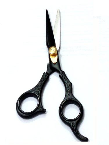 ZZZRT Black J2 Japanese Steel New Professional Razor Edge Titanium Hairdressing Barber Salon Scissor/Shear 5.5