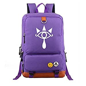 Asdfnfa Backpack, Anime Elements Men and Women Casual Large Capacity Travel Package Computer Bag Student Schoolbags (Color : Purple)