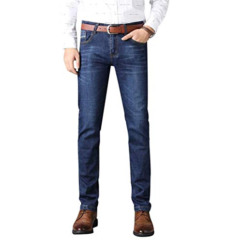 Pants Fit Look Giovane Pantaloni Business Jeans Casual Blau Denim Invecchiato Vintage Fashion Da 1 Uomo Regular 0nxOX