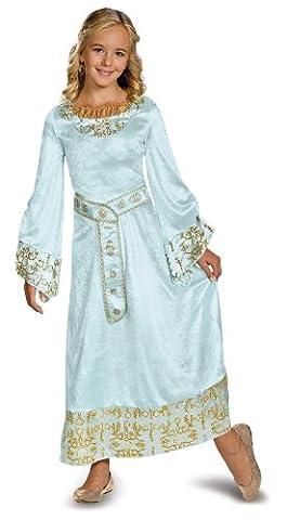 Aurora Blue Dress Deluxe Costume - Medium (Maleficent Film Aurora Kostüm)