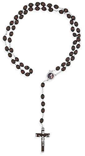 Solanus Casey Rosary with Mahogany Beads Mahogany Village