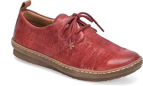 7 Comfortiva Womens Closed 5 Oxfords Cassandra Toe Red Leather Cherry Size wqFzrw