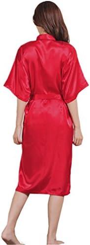 Abito da sera da donna in seta lungo Kimono con vestaglia in seta satin wv